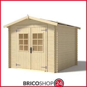 Casetta in Legno 2.5x3 da Giardino Ricovero per Attrezzi Esterno Box Ripostiglio