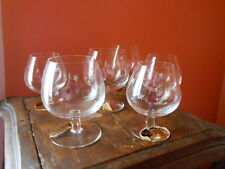 6 Verres à Cognac en Cristal de St Louis