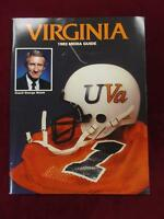 1982 University of Virginia Football Virginia Media Guide  (B4)