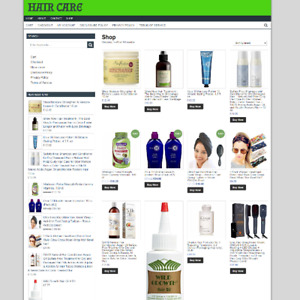 HAIR CARE ECOMMERCE UK WEBSITE - Fully Stocked - ONE YEARS HOSTING - Easy To Run