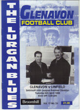 1998/99 Glenavon v Linfield - Irish League - 6th Apr - Vol 17 No 24