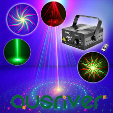 Remote Control RGB 8 Patterns Laser Stage Light Disco/DJ Lights Sound Active New