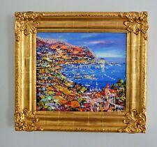 Authentic Duaiv CATALINA NIGHT Original Art Painting with Gold Frame Unique