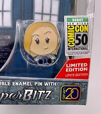 Collectibe Exclusive Doctor Who SuperBitz Tardis with 13th Doctor Enamel Pin