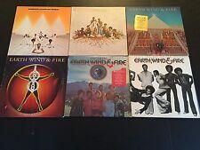 EARTH WIND & FIRE~LOT OF 6 LP~ORIGINAL SOUL/FUNK ALBUMS~POSTER~COLUMBIA