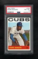 1964 TOPPS #336 ANDRE RODGERS CUBS PSA 8 NM/MT WITH 8.5 QUALITIES!