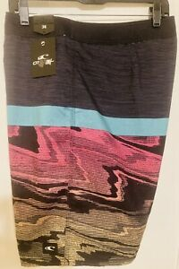 "O'NEILL GLITCH 20"" BOARDSHORTS MENS SIZE 38 FA9106009 Striped Surf Shorts New XL"