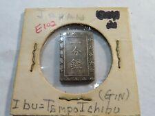 E102 Japan 1853-1865 Silver Tempo Ichibu