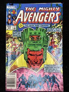 The Avengers #243 (Marvel 1984) Scarlet Witch Starfox ~ 8.0 VF