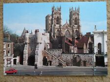 .A SALMON CAMERACOLOUR POSTCARD,BOOTHAM BAR & MINSTER,YORK..NOT POSTED.