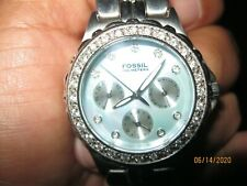 LADIES FOSSIL MOTHER OF PEARL DIAL WATCH