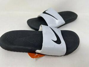 NEW! Nike Women's Kawa Slide Sandals Black/Metallic #834588-004 127K tz