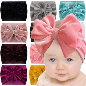 Baby Cotton Rabbit Headband Newborn Elastic Bowknot Hair Band Girls Bow-knot Bow