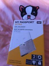 WD 2 TB My Passport Ultra Portable Storage - White/Gold New Sealed