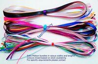 10M Ribbon Bundles Mixed Ribbon Off Cuts Gift Wrapping Arts & Craft UK 3 to 16mm