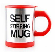 Red Self Stirring Mug Coffee Cup Tea Auto Mixer Drink Insulated Stainless 400ml