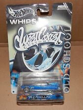 Whips West Coast Customs Cars Hot Wheels NIB 2003 Blue 59 Cadillac Metal 144A