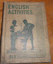 VINTAGE ENGLISH ACTIVITIES GRADE SIX - 1936 ILLUSTRATED ELEMENTARY SCHOOL TEXTBO