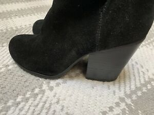 Reaction Kenneth Cole Black Hit Hooded Bootie Ankle Boot 7.5 Women's Shoes 👠