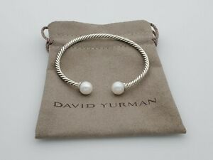 David Yurman Solari Bracelet with Diamonds and Freshwater Pearl, Size Medium
