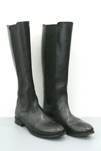 Frye Lindsay Gore Tall Black Leather Boots Size 7.5 B
