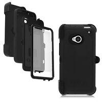 OtterBox HTC ONE M7 Defender Case & Holster Black w/ Belt Clip OEM New Genuine
