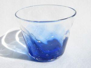 Deep Blue SAKE Glass Cup (Handmade in Okinawa, Japan)