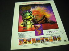 Edgar Winter does L. Ron Hubbard Mission Earth 1989 Promo Poster Ad mint cond