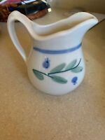 Hartstone Pottery  Blueberry Creamer Small Pitcher Excellent Condition.