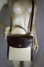 BALLY LARGE KELLY EXECUTIVE LEATHER & CROCO BAG - SERIAL # 1480497