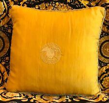 ORIGINAL GIANNI VERSACE GOLD MEDUSA SILK PILLOW