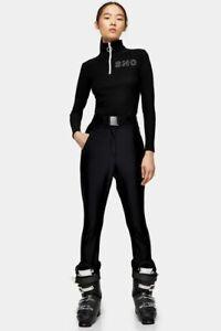 TOPSHOP SNO Black Skinny Ski Trousers Sizes UK 4_6_8_10_12_14_16