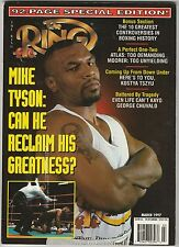 THE RING MAGAZINE MIKE TYSON BOXING HOFer MARCH 1997