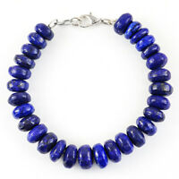 330.00 Cts Earth Mined Blue Lapis Lazuli Untreated Round Beads Bracelet (RS)