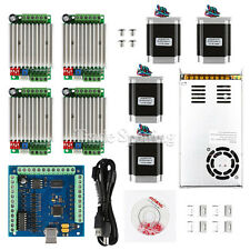CNC 4-Axis Kit 4 with TB6600 Driver Mach3, USB Breakout Board, Nema23 Motors