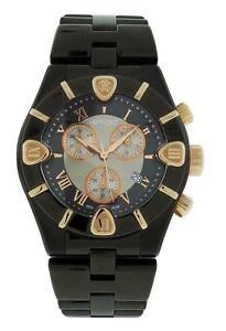 Roberto Cavalli R7253616045 Diamond Time Men's Black Chronograph Date Watch