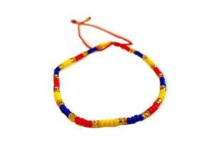Slim Handmade Bracelet from Medellin - Colombia Ecuador Venezuela Flag Colors
