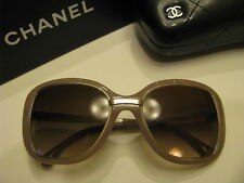 New AUTHENTIC  CHANEL Sunglasses 6044-T c.1432 / S5 Titanium Beige