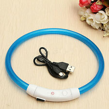 50CM Pet Dog Rechargeable USB Waterproof LED Flashing Light Band Collar Welcomed