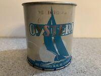 Oyster Can Tin Dean Seafood Montross Va VA124 16oz