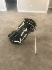 TaylorMade Lightweight Stand Golf Bag with Comfort Carry Straps- Black and White