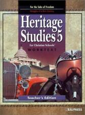 Heritage Studies : Teacher Wk. Tx. Grade 1 by Bob Jones Press Staff (2002,...