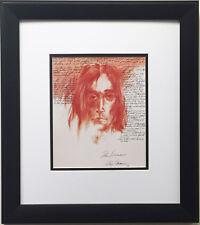 """LeRoy Neiman """"John Lennon"""" Newly CUSTOM FRAMED Art Print - The Beatles Imagine"""