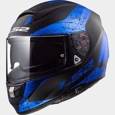 Casco Integrale Ls2 Ff397 Vector Sign Nero Blu opaco doppia Visiera Moto Scooter M