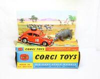 Corgi 256 Volkswagen Beetle 1200 East African Safari In Its Original Box -N Mint
