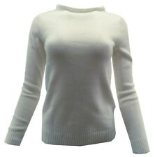 Croft & Barrow Women's Sweater XS Ivory Pull Over Boat Neck L/S Casual $36 New
