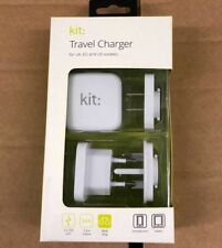 Kit Travel Charger 3.4A GENUINE UK/EU/US MAINS WALL For Phones and Tablets.