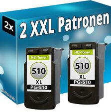 2x XL TINTE PATRONEN REFILL PG-510 für CANON PIXMA MP250 MP490 MP280 MP495 MP270