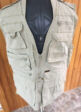 Woolrich Mens Medium Beige Hunting Fishing Multi Pocket Heavy Duty Vest New