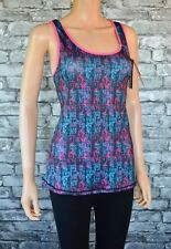 New Trespass Selma Performance Sports Vest Top Quick Drying Black Pink Size 12